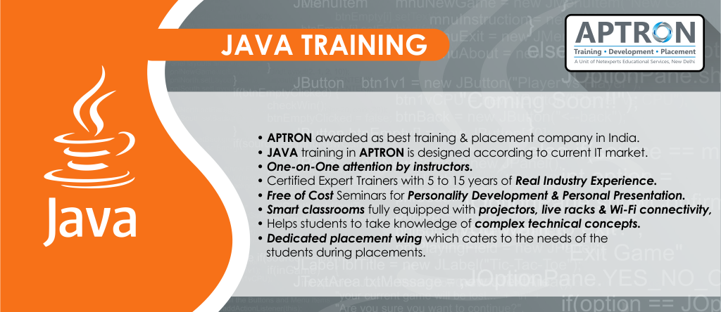 best java training in delhi, java course certification institutes in delhi