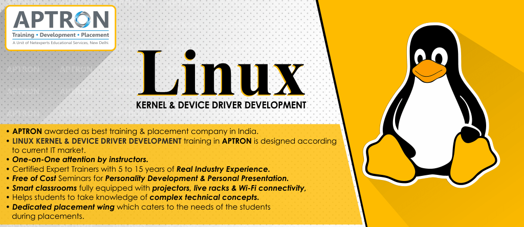 Best Linux Kernel and Device Driver Development training institute in Delhi
