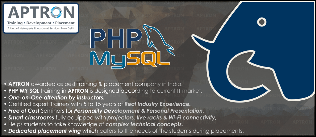Best PHP MySQL training institute in Delhi