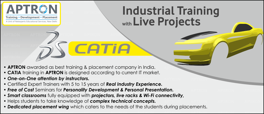 Best Project based 6 Months Industrial Training in CATIA