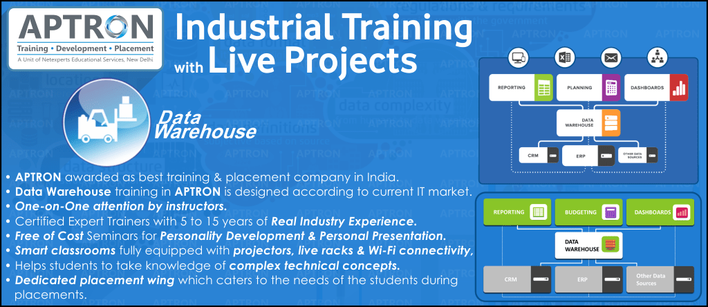 Best Project based 6 Months Industrial Training on Data Warehousing in Delhi
