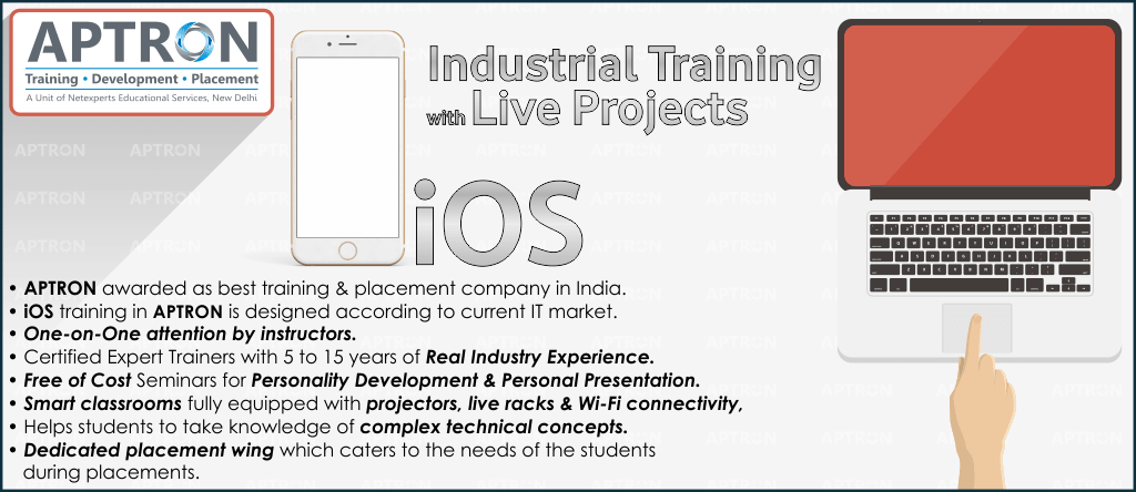 Best Project based 6 Months Industrial Training on iphone in Delhi