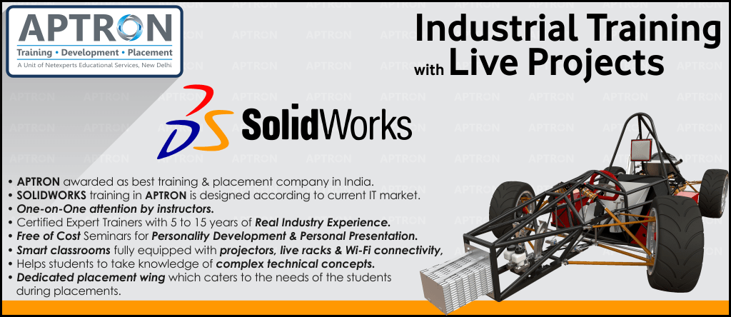 Best Project based 6 Months Industrial Training in Solidworks