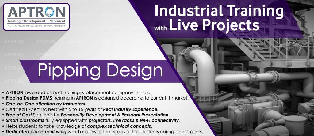 Best Project based 6 Months Industrial Training on Piping Design in Delhi