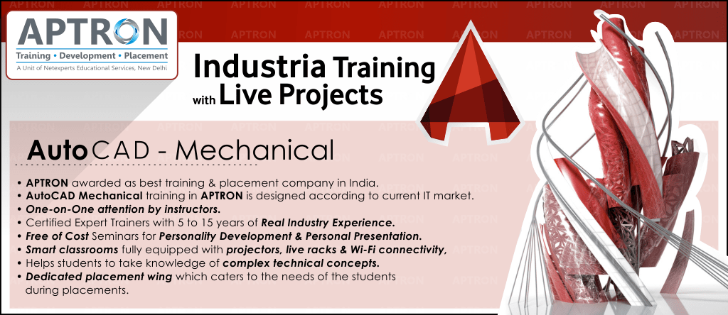 Best Project based 6 Months Industrial Training on Cad Mechanical in Delhi